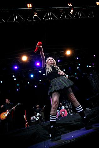 2007-07-01 - Avril Lavigne spelar på Pier Pressure, Göteborg