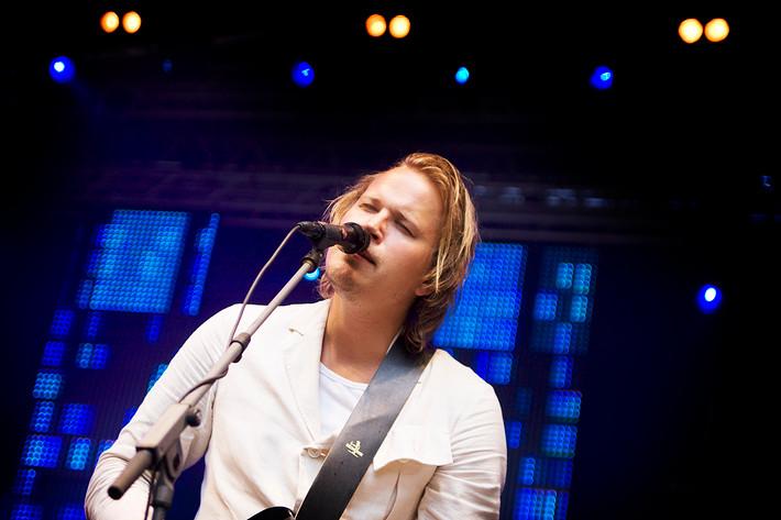 2008-08-02 - Christian Kjellvander performs at Putte i Parken, Karlskoga