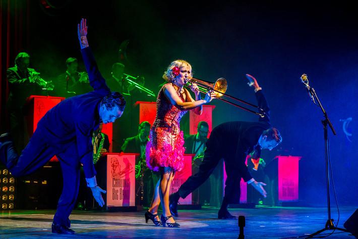 2015-02-02 - Gunhild Carling & Carling Big Band Jazzvarieté performs at Cirkus, Stockholm