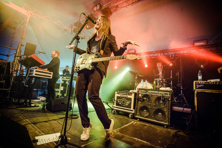2015-08-01 - Markus Krunegård performs at Storsjöyran, Östersund
