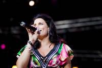 2009-08-14 - Jill Johnson spelar på Sundbyholms Travbana, Eskilstuna